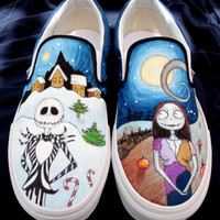 Nightmare Before Christmas Custom Vans by beargallery on Etsy