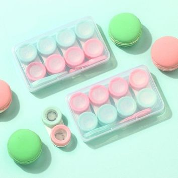 6Pairs Contact Lens Case Candy Colored Many Styles Eye Contact Lens Box Travel Contact Lenses Case Women