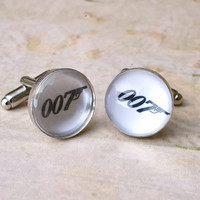 007 Cufflinks - James Bond cuff links for men - Gift Box Included