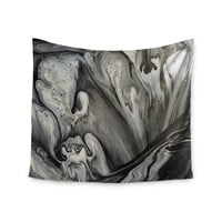 "Abstract Anarchy Design ""Inner Chaos "" Black Abstract Wall Tapestry"