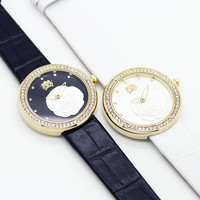 Rose strap watch (2 colors)