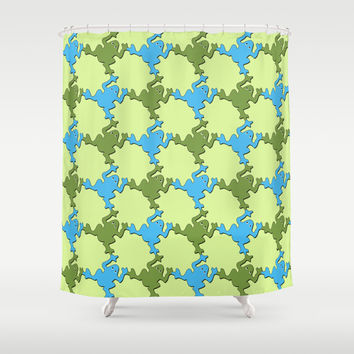 Frogs Shower Curtain by LoRo  Art & Pictures