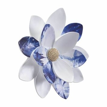 Margarita Small Wall Decor White & Blue