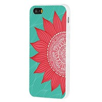 ChiChiC Slim Durable Soft TPU Case for iPhone 5 5g/5s, Red Sunflower