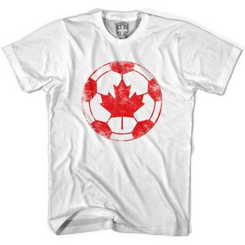 Canada Vintage Ball Soccer T-shirt
