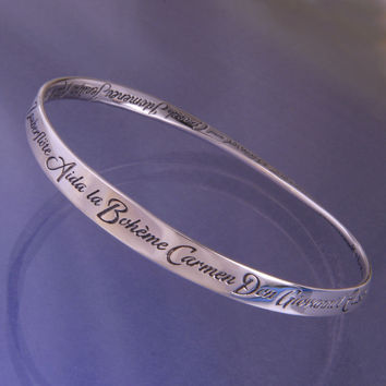 A-Z Of Operas Sterling Silver