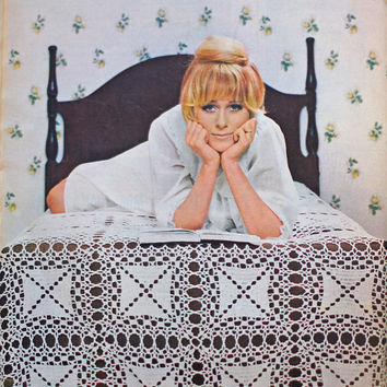 Vintage Pins & Needles Magazine 1960s Pattern Book inc. Knitting, Crochet, Tatting, May 1968