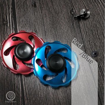 New***  EDC Metal Circular Fidget Spinner with Steel R188 Bearing (Ultra Fast)