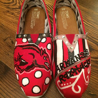 Personalized hand painted Toms canvas shoes