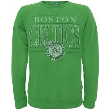 Boston Celtics - Distressed Classic Logo Crew Neck Sweatshirt