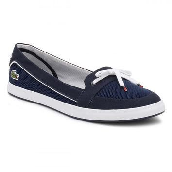 Lacoste Womens Navy Lancelle Boat 117 1 CAW Shoes