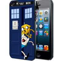 Adventure Time Jake Finn In Dr Who Tardis Call Box Samsung Galaxy S3 S4 S5 Note 3 case, iPhone 4 4S 5 5s 5c case, iPod Touch 4 5 case