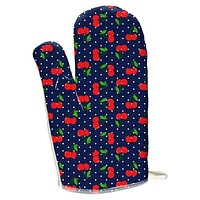 Fruit Cherry Cherries Repeat Pattern All Over Oven Mitt