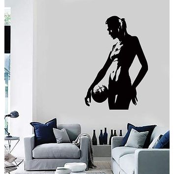 Wall Stickers Vinyl Decal Volleyball Player Sexy Girl Beach Sport Decor Unique Gift (z2186)