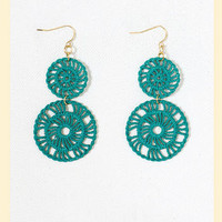 Lovelace Earrings in Turquoise                    - Francesca's Collections