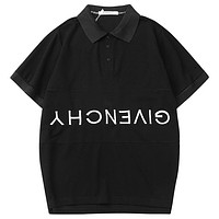 Givenchy Men Fashion Casual V-Neck Short Sleeve