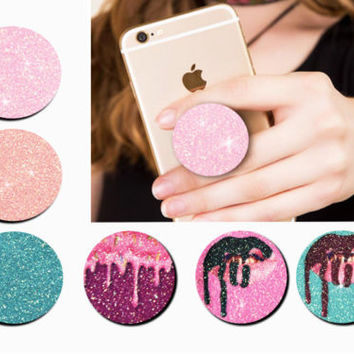 Real Glitter Universal POP out Grip Holder Mount Stand for Mobile Phone Tablet | eBay