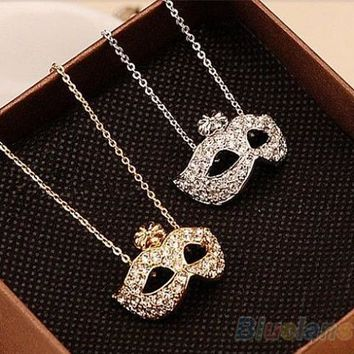 2014 New Fashion Women's Vintage Retro Style Charm Fox Mask Pendant Statement Necklace Novelty Gift 1FN9