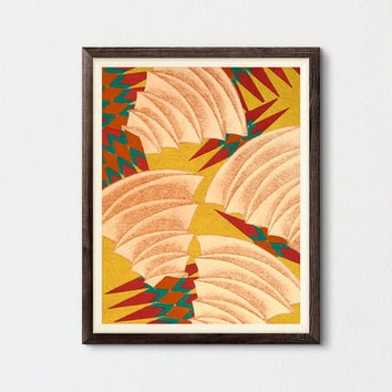 Abstract Art Printable, Mid Century Modern Art, Contemporary Fine Art Bohemian Decor, Summer Wall Art, Living Room Wall Art, Kids Room Decor