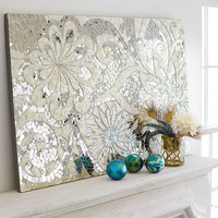 Floral Capiz Wall Panel