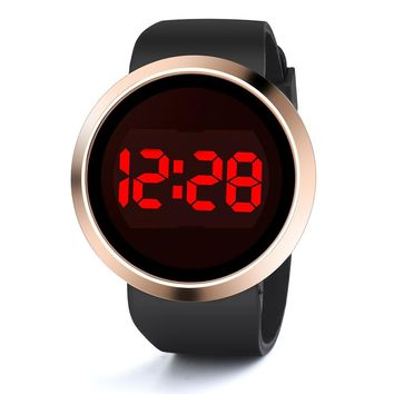 Fashion Waterproof Men's LED Touch Screen Day Date Silicone Wrist Watch