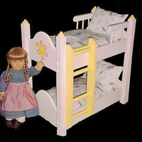 Doll Bunkbed fits American girl doll and 18 by Keatingwoodcraft