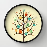 Owl Are Welcome Wall Clock by Jay Fleck