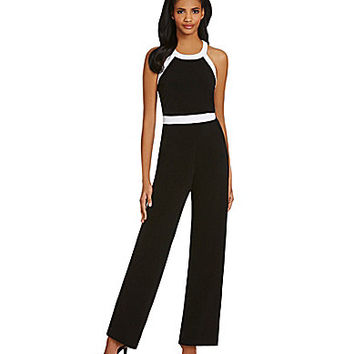 Calvin Klein Colorblocked Jumpsuit - Soft White
