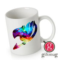 Galaxy Fairy Tail Logo Ceramic Coffee Mugs