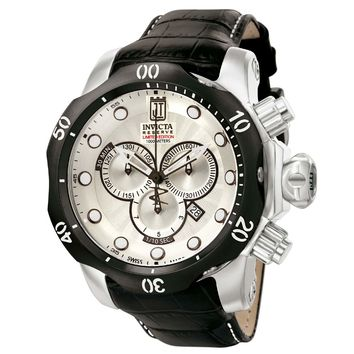 Invicta 12962 Men's Reserve Jason Taylor Venom Silver Dial Chronograph Dive Watch