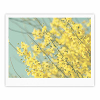 """Sylvia Coomes """"Yellow Blooms"""" Yellow Blue Fine Art Gallery Print"""