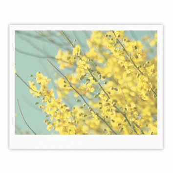 "Sylvia Coomes ""Yellow Blooms"" Yellow Blue Fine Art Gallery Print"