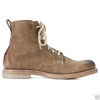 Frye Men's Shoes Locke Lace Up Boots Suede Leather Camel 3487135