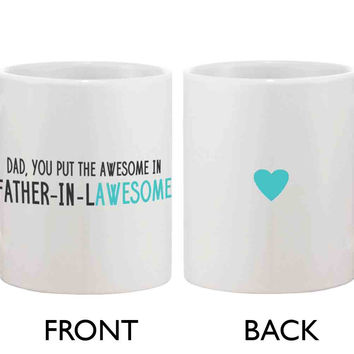 Funny Coffee Mug for Dad - Father-In-Lawesome, Father's Day Mug Cup Gift