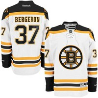 Mens Boston Bruins Patrice Bergeron Reebok White Premier Player Jersey