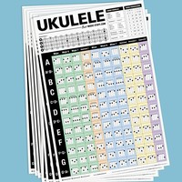 "Popular Ukulele Chords Teaching Posters 24""x36"""