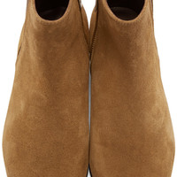 Brown Patsha Suede Ankle Boots