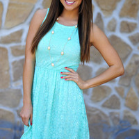 Easter Basket Dress: Mint Blue | Hope's