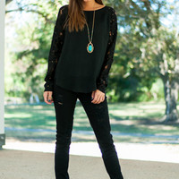 Midnight Stroll Blouse, Black