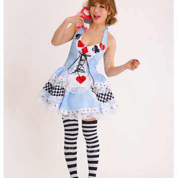 MOONIGHT Plus Size New Sexy Queen of Hearts halloween Costumes For Women Costume Alice In Wonderland Fancy Cosplay Dress Party