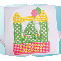 Bounce House Birthday Applique shirt - Customizable -  Infant to Youth