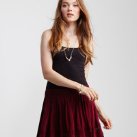 Lace Inset Flippy Skirt