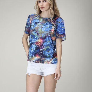 Monet Inspired Floral Top