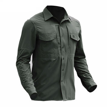 Tactical Gear Quick Dry Military Shirt Men Breathable Soft Elastic New Fabric Shirts Long Sleeve Stretches Combat Army Shirt