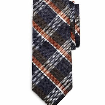 Wool Sidewheeler Plaid Tie - Brooks Brothers