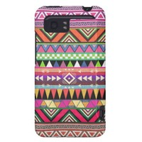 Aztec Graphic Art Zigzag Multicolor Pattern HTC Vivid Cases