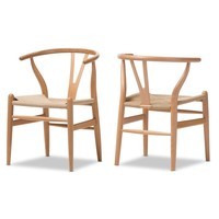 Sharonda Wishbone Solid Wood Dining Chair