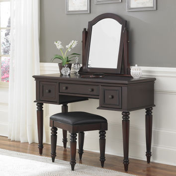 Bermuda Vanity and Bench | Overstock.com Shopping - The Best Deals on Bedroom Mirrors