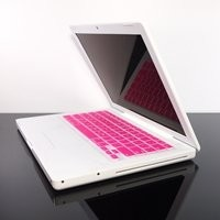 TopCase PINK Keyboard Silicone Skin Cover for Macbook 13 13.3 (1st Generation/A1181) with TopCase Mouse Pad