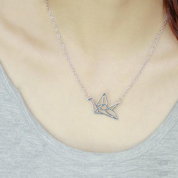 Harajuku Origami Crane Necklace